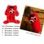 PRE เสื้อกันหนาวน้องหมาแฟนซี มีฮูท สีแดง thumbnail 1