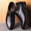 พร้อมส่ง รองเท้าคัชชู ผู้ชาย หนัง PU สีดำ ใส่ทำงาน แบบสวม มีส้น thumbnail 2