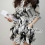 Lady Ribbon's Made Lady Zoe Star Print Cotton Ruffle Dress with Belt thumbnail 7