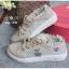 รองเท้าผ้าใบแฟชั่นสไตลฺวินเทรด แต่งระบายลูกไม้สวยหวานน่ารักมาก thumbnail 6