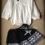 Lady Ribbon's Made Lady Bella Tribal Chic Black and White Knit Mini Skirt thumbnail 4