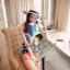 Cami ChillChill Graphic Mix Color Dress by Seoul Secret thumbnail 1