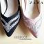 รองเท้าส้นสูง STYLE ZARA คัชชูส้นเข็ม สูง 4 นิ้ว ด้านหน้าติดเพชรสวยงาม thumbnail 7