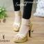 รองเท้าส้นเข็มSTYLE YVESSAINTLAURENT คัชชูส้นเข็ม สูง 4 นิ้ว เสริมหน้า 1.5 นิ้ว งานผ้ากริตเตอร์ thumbnail 1