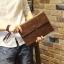 พร้อมส่ง กระเป๋าถือ กระเป๋าเอกสาร หนัง PU สีน้ำตาล ใส่เอกสาร ใส่โทรศัพท์ ใส่ ipad mini ได้ thumbnail 1
