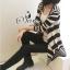 Sevy Korean Knit Striped Cardigan Jacket thumbnail 7