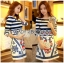 Lady Jennifer Casual Chic Striped and Floral Printed Dress thumbnail 5