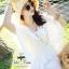 White fairy pleated mini dress thumbnail 2