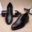 พร้อมส่ง รองเท้าคัชชู ผู้ชาย หนัง PU สีดำ ใส่ทำงาน แบบสวม แต่งเชือกหลังเท้า thumbnail 3