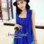 Modish Vivid Blue Set Singlet Inner and Long Suite Outer by Seoul Secret thumbnail 3