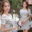 Lady Cherline Smart Casual Striped Lace Dress thumbnail 2