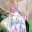 Pastel flowers paint maxi dress thumbnail 2