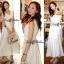 Lady Ribbon's Made Lady Ribbon White Floral Embellish Lace Maxi thumbnail 3