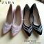 รองเท้าส้นสูง STYLE ZARA คัชชูส้นเข็ม สูง 4 นิ้ว ด้านหน้าติดเพชรสวยงาม thumbnail 6