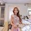 Luxury sweet rose floral Dress + (Belt set) thumbnail 2