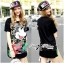 Lady Ribbon's Made Lady Micky Printed and Sequin Liz Hip-Hop Style T-Shirt Dress thumbnail 4