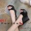 รองเท้าส้นเตารีดแฟชั่น แบบส้นตึกอันดับหมุดทองด้านหน้าส้นสูงประมาณ 4.5 นิ้ว thumbnail 1