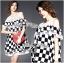 Lady Ribbon's Made Lady Isabella Smart Off-Shoulder Check Printed Cotton Dress thumbnail 5