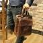 พร้อมส่ง กระเป๋าสะพายข้าง สีน้ำตาล กระเป๋าถือใส่เอกสาร ผู้ชาย เท่ห์มาก thumbnail 2