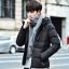 พร้อมส่ง เสื้อโค้ทผู้ชาย สีดำ มีฮู้ด2ชั้น บุนวมหนา ใส่กันหนาว ใส่ลุยหิมะ thumbnail 1