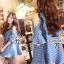 Cliona Made,Parata Off-Shoulder Pokadot Denim Dress thumbnail 3