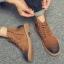 พร้อมส่ง รองเท้าบูทผู้ชาย สีน้ำตาล บุขน มีซิปด้านข้าง รองเท้าบูทหนัง แบบร้อยเชือก ใส่ง่าย ใส่ลุยหิมะ ใส่กันหนาว thumbnail 3