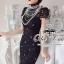 Valentino elegant black lace dress thumbnail 4