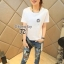 Cliona made,Mickey Mouse Print Denim Casual Jean thumbnail 2