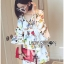 Lady Ribbon's Made Lady Anne Funky Flared-Sleeve Printed Dress thumbnail 4
