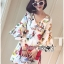 Lady Ribbon's Made Lady Anne Funky Flared-Sleeve Printed Dress thumbnail 1