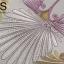 วอลเปเปอร์ลายดอกไม้สีเงิน-ทองพื้นสีน้ำเทา LTD-J76 thumbnail 4