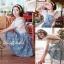 Lady Ribbon's Made Denim Jumper Skirt, Cross Print thumbnail 2
