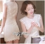 Lady Ribbon's Made Lady Jessica Classic Lace Dress in Ivory thumbnail 3