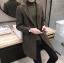พร้อมส่ง เสื้อโค้ทผู้ชาย สีน้ำตาล ผ้าวูลทอลาย ใส่กันหนาว ใส่อุ่นเท่ห์ แฟชั่นหน้าหนาวผู้ชาย thumbnail 3