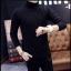 พร้อมส่ง เสื้อไหมพรม คอเต่า สีดำ ลายเชือก แขนยาวปลายจั๊ม ใส่กันลม ใส่กันหนาว thumbnail 1