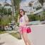 Crytal perfume lace t-shirt and pink shorts&#x2605 thumbnail 2