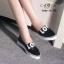 รองเท้าผ้าใบเสริมส้นหัวแหลมสกรีนลาย Love น่ารัก thumbnail 3