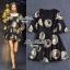 Black Golden Printed Mini dress thumbnail 1