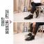 รองเท้าแฟชั่นผู้ชาย พรีออร์เดอร์ รองเท้าหนัง สีดำ ผูกเชือก ใส่เที่ยว ใส่ทำงาน thumbnail 2