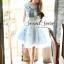 Set Pastel Blue Domicile Blouse with Organza Skirt by Seoul Secret thumbnail 3