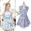 Lady Ribbon's Made Lady Ribbon Sweet Denim Rosary Mini dress thumbnail 3