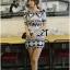 Lady Ribbon's Made Lady Isabel Vintage Glam Mixed Print Mini Dress thumbnail 3