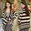 Sevy Korean Knit Striped Cardigan Jacket thumbnail 8