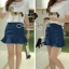 Nifty White Blouse Golden Gee-Gee match with Denik Skirt by Seoul Secret thumbnail 4