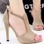 รองเท้าแฟชั่นส้นเข็มทำจากผ้าสักหลาด ส้นปิดมีสายรัดข้อเท้าสวยงามดูหรูหราออกงานได้เลย thumbnail 2