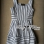 Lady Ribbon's Made Lady Kate Super Striped Navy Dress thumbnail 6