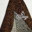 (ส่งฟรี EMS) Sevy Hi-End Leopard V-Neck Open Leg Maxi Dress thumbnail 8