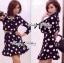 Lady Taylor Polka Dot Crop Jacket and Pleated Skirt Set thumbnail 6