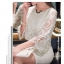 Feminine luxury see-through Lace Dress thumbnail 8