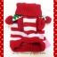 เสื้อน้องหมา ไหมพรมคริสมาสต์ สีแดง-ขาว พร้อมส่ง thumbnail 2
